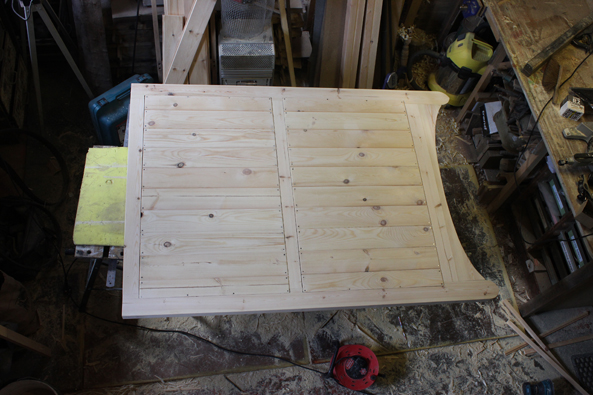Picture of a gate being made in a workshop.