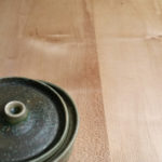 Detail of a sycamore kitchen top
