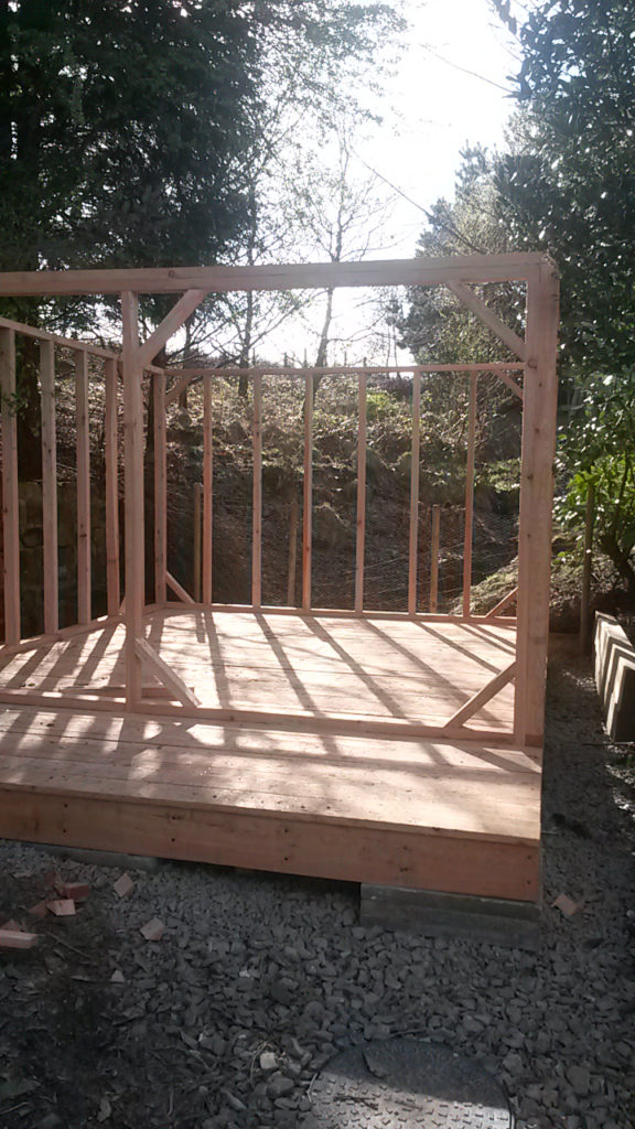 Picture of structural timber work